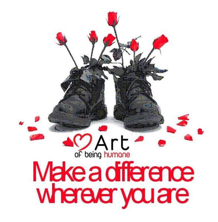 LOGO Art of Being Humane_ make a difference